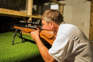 Adventure activity birthday parties Somerset air rifle shooting range